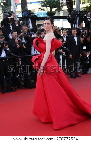 Erin O'Connor attends the 'Carol' Premiere during the 68th annual Cannes Film Festival on May 17, 2015 in Cannes, France. - stock photo