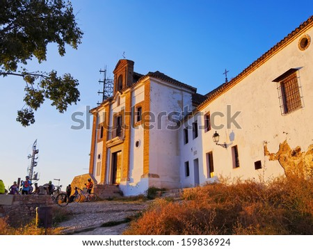 Ermita de San Miguel el Alto in Granada - beautiful city in Andalusia,  Spain - stock photo