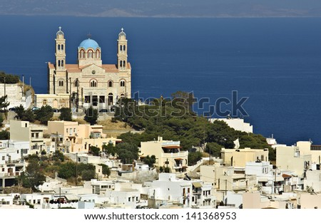 Ermoupolis town at Syros island in Greece