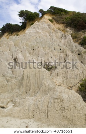 Eroded Clay Formations, Zakynthos Island - summer holiday destination in Greece