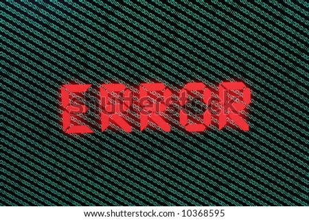 ERROR - stock photo