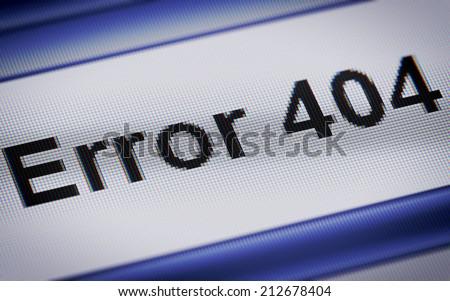 Error 404 - stock photo