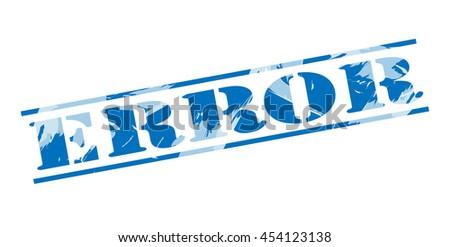 error blue stamp on white background - stock photo