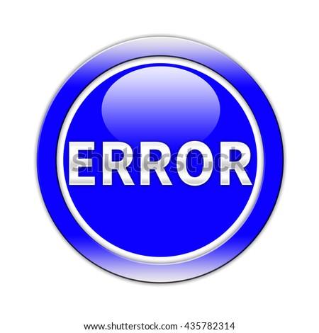 Error button isolated - stock photo