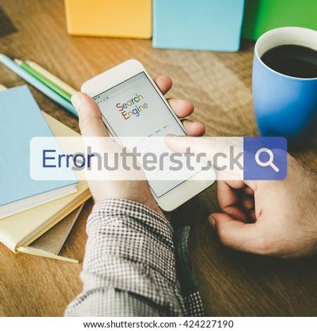 Error Concept - stock photo