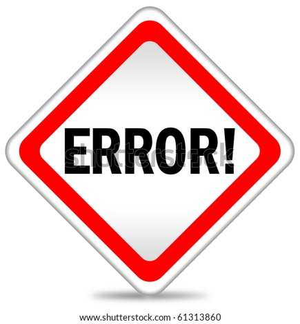 Error icon - stock photo
