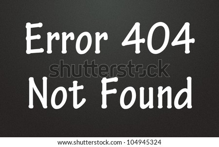 error 404 not found symbol - stock photo