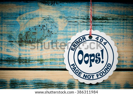 Error 404 Page not found - stock photo