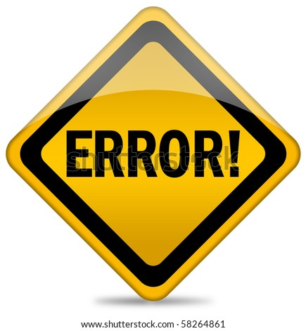 Error sign - stock photo