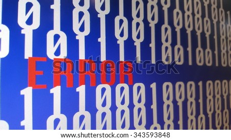Error word on computer screen. - stock photo