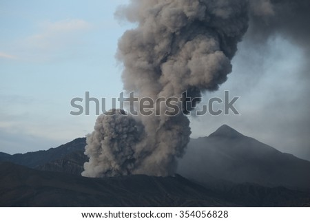 Eruption of Mountain