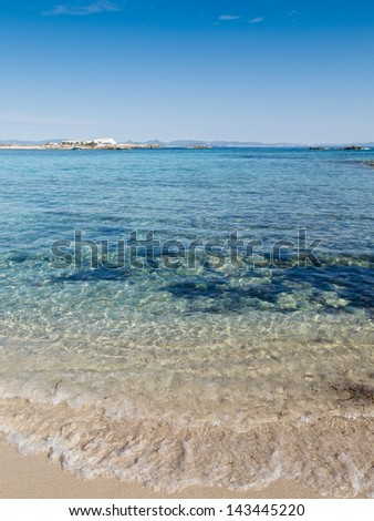 Es Pujols Beach, beautiful beach in Formentera, Spain