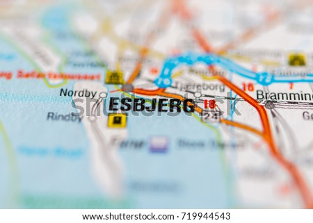 Esbjerg On Map Stock Photo (Royalty Free) 719944543 - Shutterstock