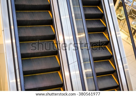 Escalator close up and detail