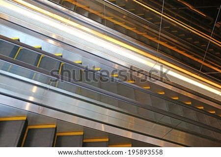 Escalator in a shopping mall