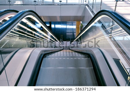 Escalator in an airport