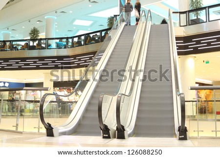 escalator in modern mall