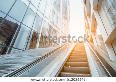 escalator in the outdoor, urban landscape,Guangzhou China