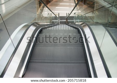 Escalators - stock photo