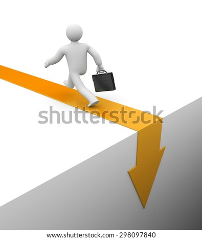 Escape. Business metaphor - stock photo