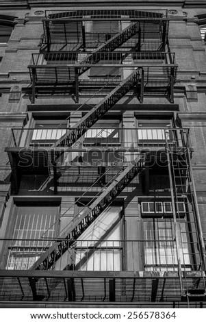 Escape ladder - stock photo