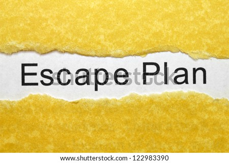 Escape plan - stock photo