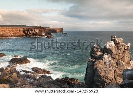 Espanola Island view in the Galapagos. - stock photo