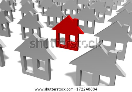 Especial house made in 3d software - stock photo