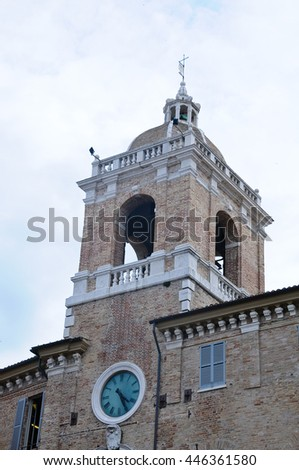 especially of the bell tower of the main church of senigallia,italy