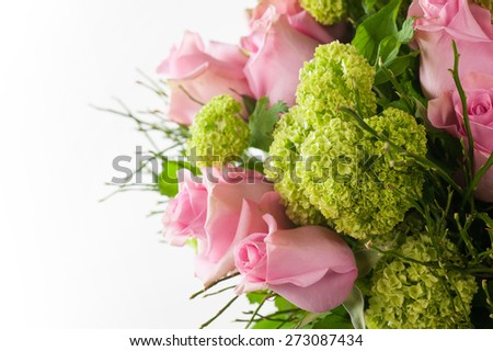 especially the bride's bouquet - stock photo