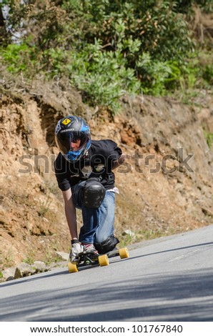 ESPINHO, PORTUGAL - MAY 5: Daniel during the 1st GP de Desportos de Gravidade on May 5, 2012 in Espinho, Portugal. - stock photo