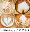 Espresso coffee foam backgrounds collage - stock photo