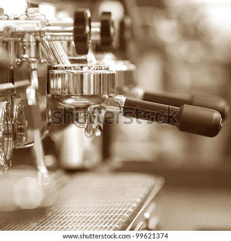 Espresso coffee machine - stock photo
