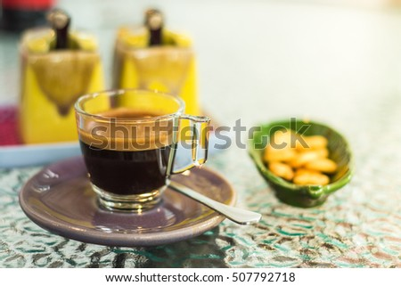 Espresso Coffee , Morning Coffe , Coffee Times , Good morning , Blurry