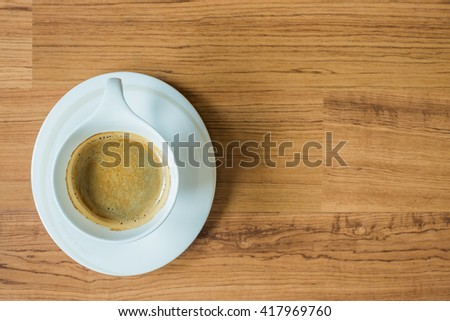 espresso coffee on clean background