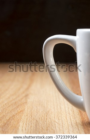 Espresso cup detail in a rustic and modern atmosphere - stock photo