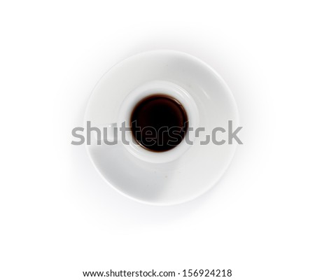 espresso cups isolated on a white background