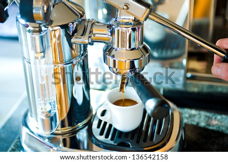 espresso-machine - stock photo