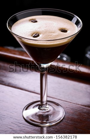 espresso martini cocktail - stock photo