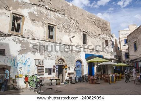 ESSAOUIRA, MOROCCO - CIRCA SEPTEMBER 2014: town of Essaouira circa September 2014 in Essaouira. - stock photo