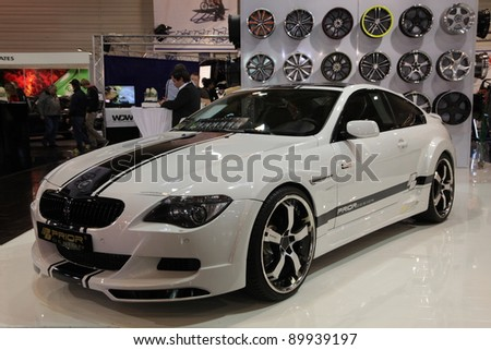 ESSEN, GERMANY - NOV 29: BMW M6 from the tuning company Prior Design shown at the Essen Motor Show in Essen, Germany, on November 29, 2011