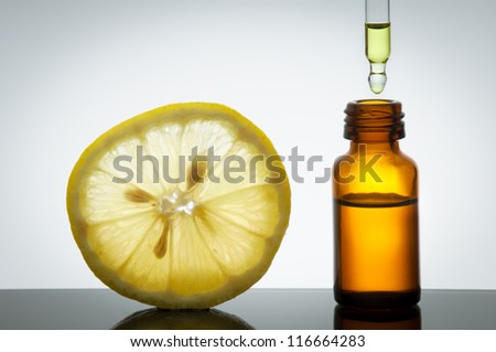 Essential oil with lemon
