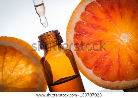 Essential oil with oranges