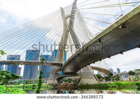 Estaiada Bridge in Sao Paulo, Brazil
