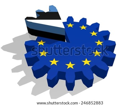 estonia as a piece of the european union gear cake