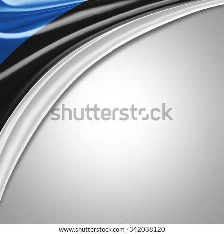 Estonia flag  of  silk with copyspace for your text or images  - stock photo