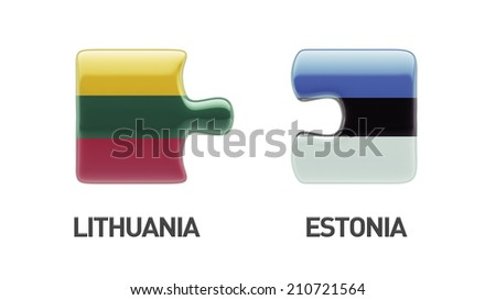 Estonia Lithuania High Resolution Puzzle Concept