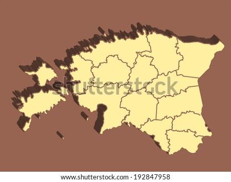 Estonia Map - stock photo