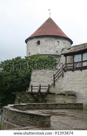 Estonia, Tallinn, Old Town. Fortress - stock photo