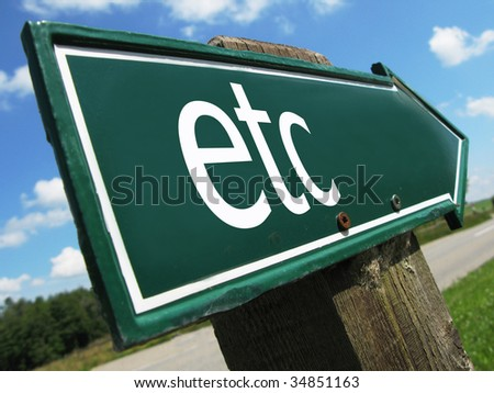 ETC road sign